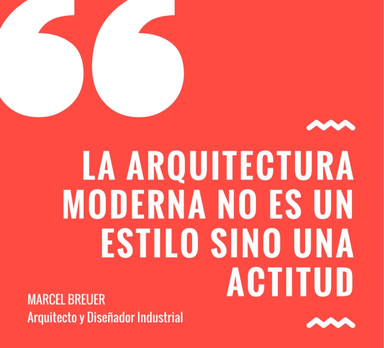 la arquitectura moderna no es un estilo sino una actitud